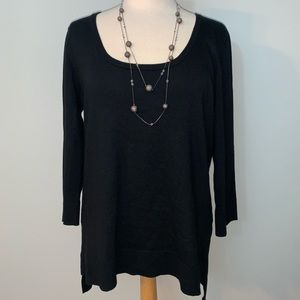 Scoop neck black sweater